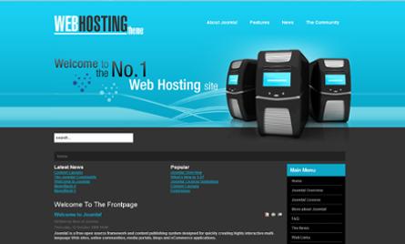 Joomla Web Hosting Theme Preview Web Hosting Theme