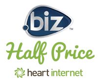 .biz domain names 50% off for limited time only