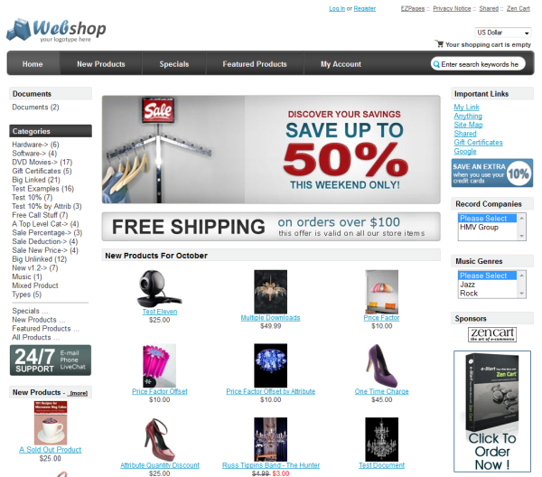 Create your Free eCommerce Website with Freewebstore