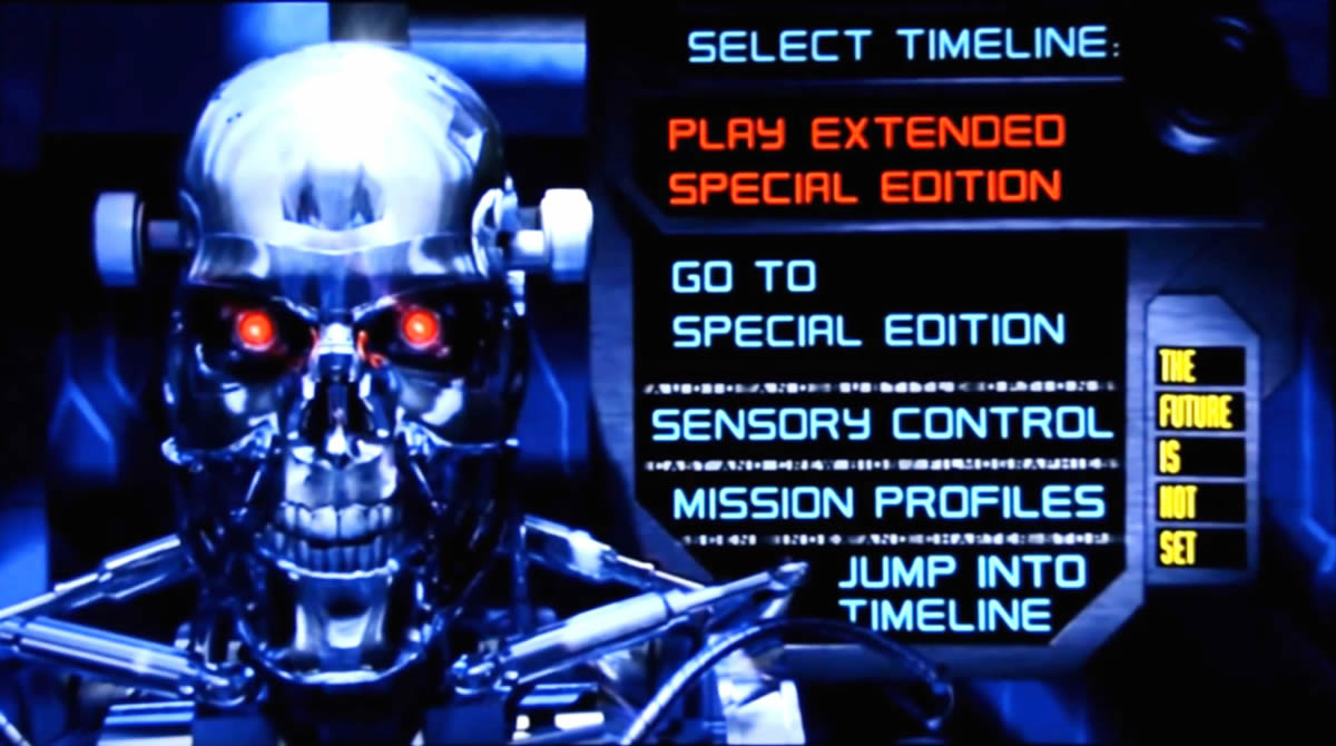 the terminator 2 dvd menu