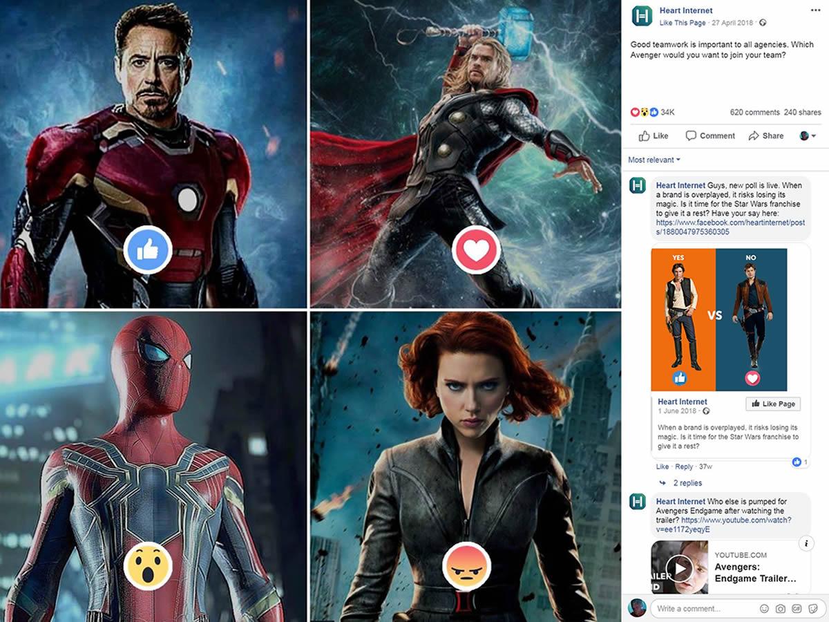 avengers social media post