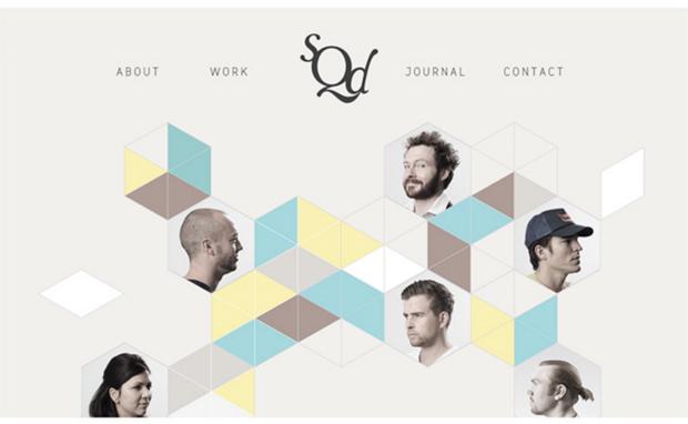 Screenshot of SQD's website