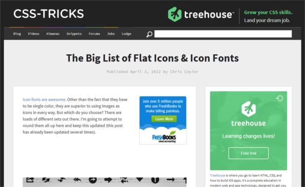 Screenshot of CSS Tricks' website