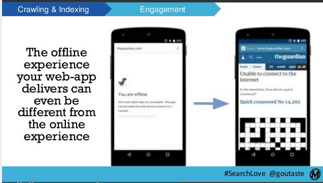Slide showing a detail from Emily Grossman's SearchLove presentation