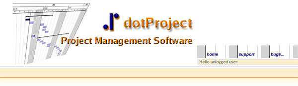 Screenshot of the dotProject Home Page