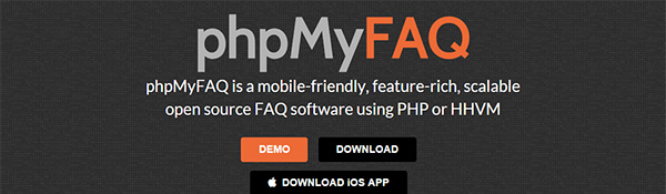 Screenshot of the phpMyFAQ Home Page
