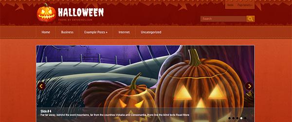 Screenshot of the Halloween template