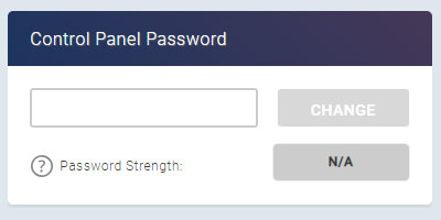 Change eXtend Password panel in the eXtend Control Panel
