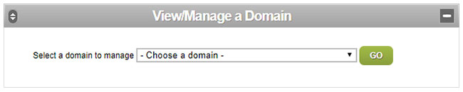 View/Manage a Domain in the Reseller Control Centre