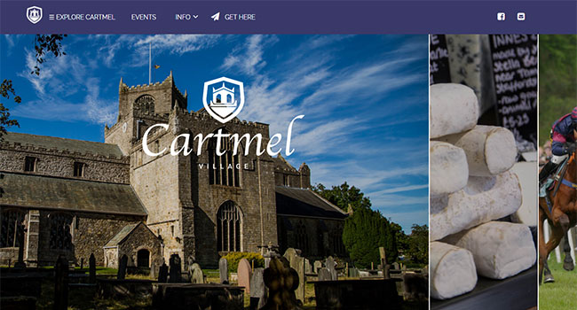 Screenshot of the Cartmel Village home page