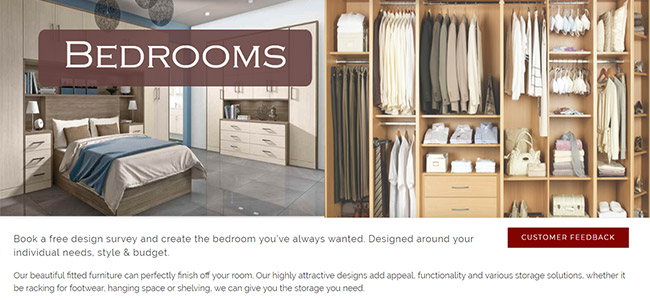 The Bedrooms page on the CEP website
