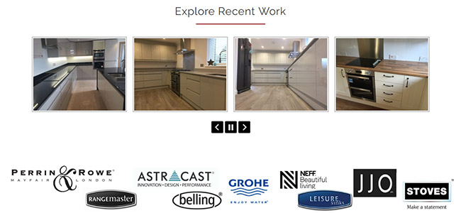 Examples of recent kitchen work by CEP