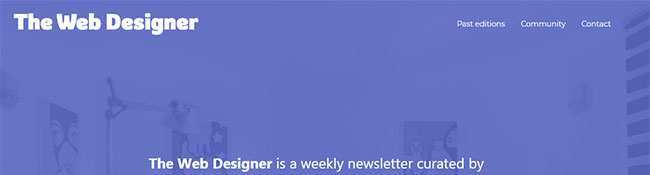 The Web Designer Newsletter