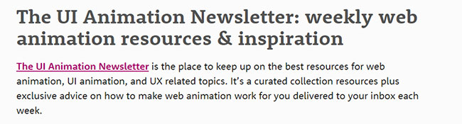 The UI Animation Newsletter