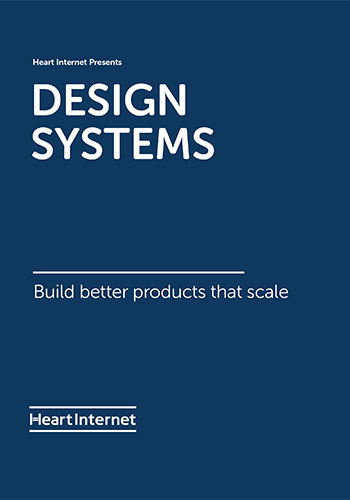 Cover of our Design Systems free ebook