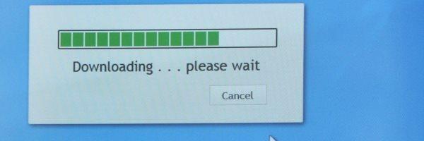 Loading bar on a screen