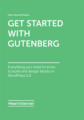 Cover of our Get Started with Gutenberg free ebook