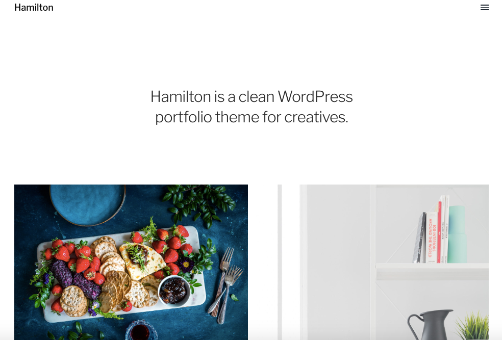 the hamilton wordpress theme