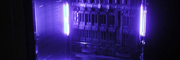 Photo of a server rack