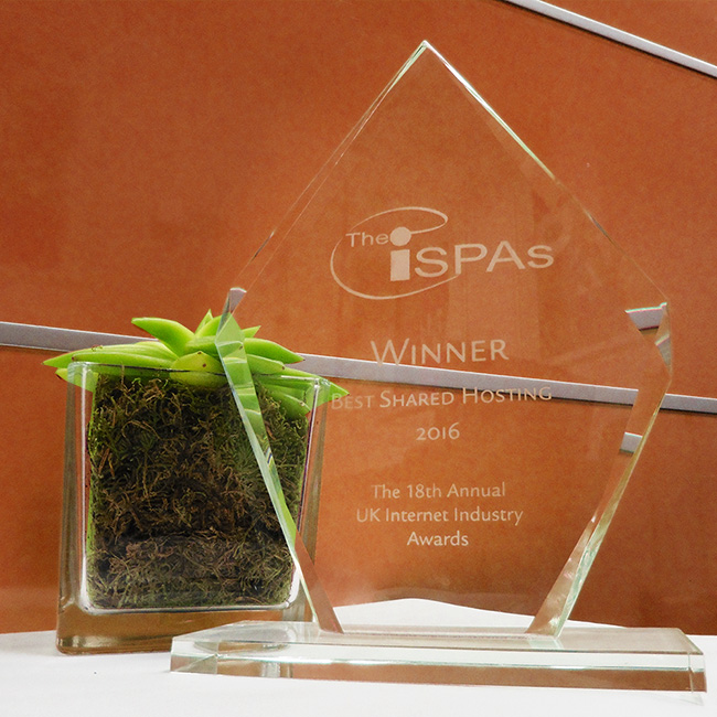 The 2016 ISPA Award for Best Shared Hosting