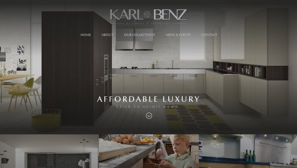 Screenshot of the Karl Benz website