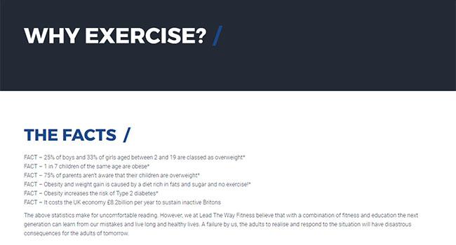 Statistics on Lead the Way Fitness