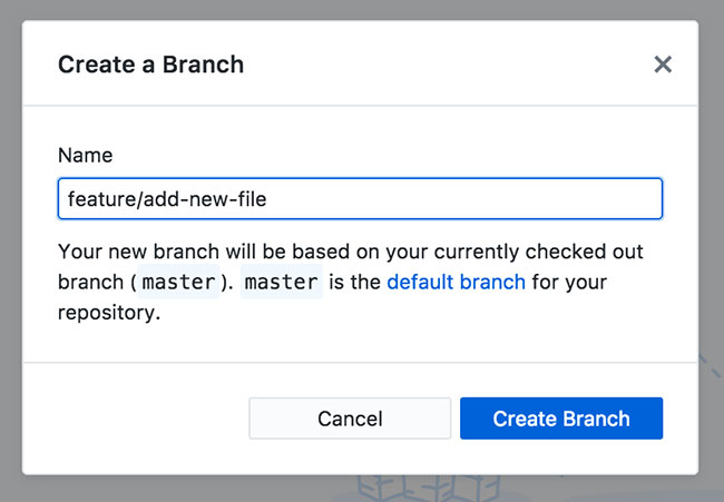Creating a new branch in GitHub