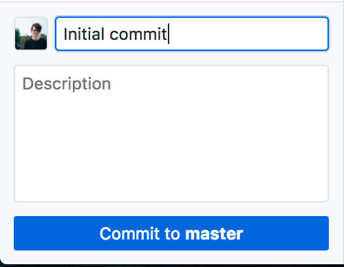 Adding a message for your commit