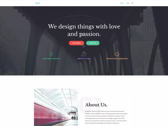 neve wordpress theme example