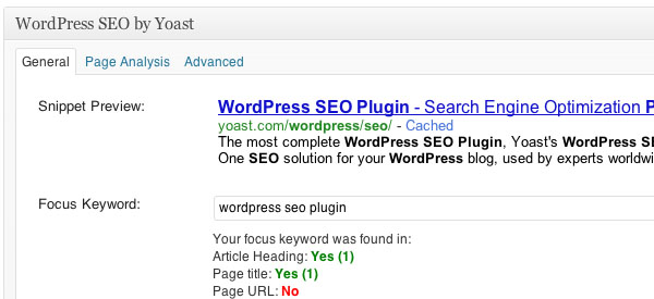 Screenshot of the Yoast SEO WordPress Plugin