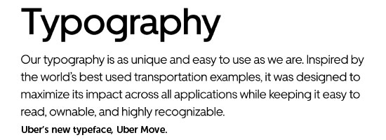 Uber's new typeface - Uber Move