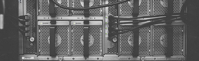 The back of a server