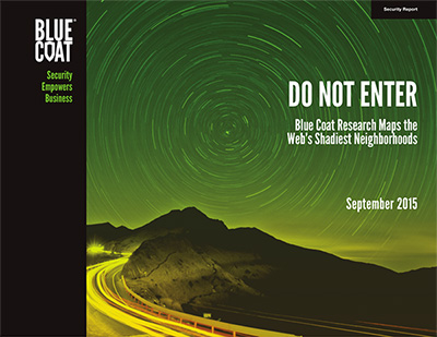 Cover of the Do Not Enter report by Blue Coat