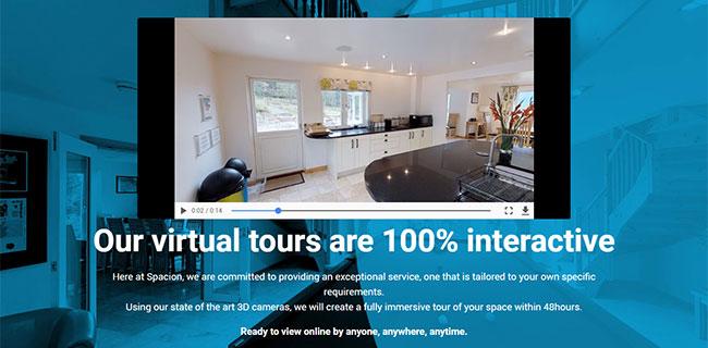 Screenshot of a Spacion virtual tour video