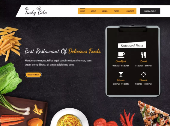 tasty bite wordpress theme example