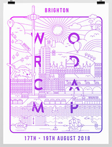The poster for WordCamp Brighton