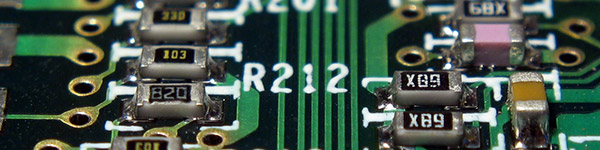 A circuit board inside a computer