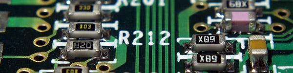 A circuit board inside a computer
