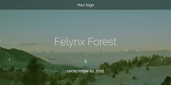 Screenshot of the Felynx Forest WordPress theme