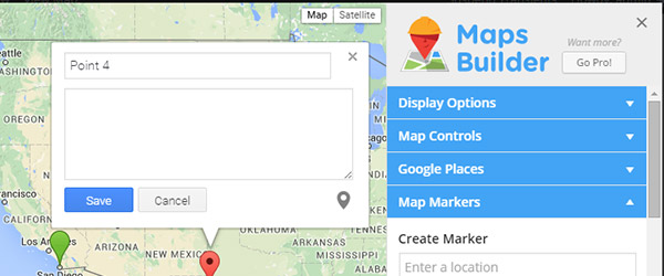 Screenshot of the Maps Builder WordPress plug-in