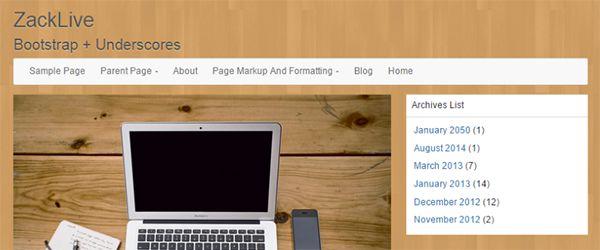 Screenshot of the LineDay WordPress theme