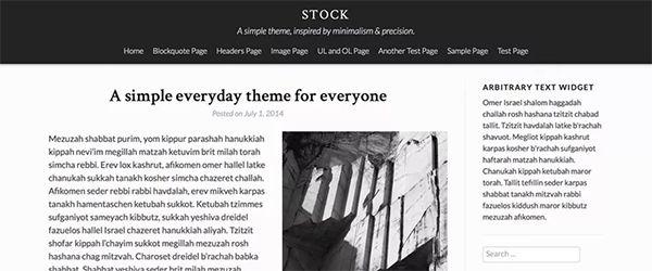 Screenshot of the Stock WordPress theme
