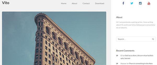 Screenshot of the Vito WordPress theme