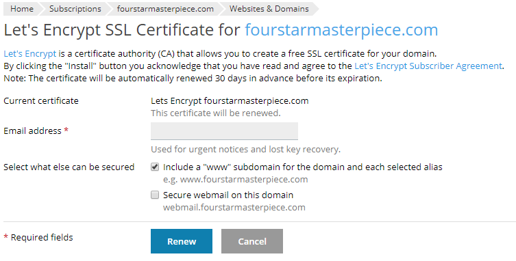 Adding Let's Encrypt to a site within Managed VPS