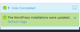 Applying updates in the WordPress Toolkit