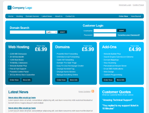 Free web hosting template (CSS/ HTML) - Heart Internet Blog ...