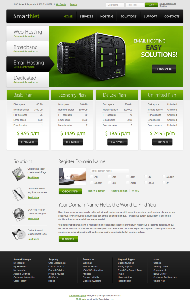 10 of the best web hosting templates and themes for