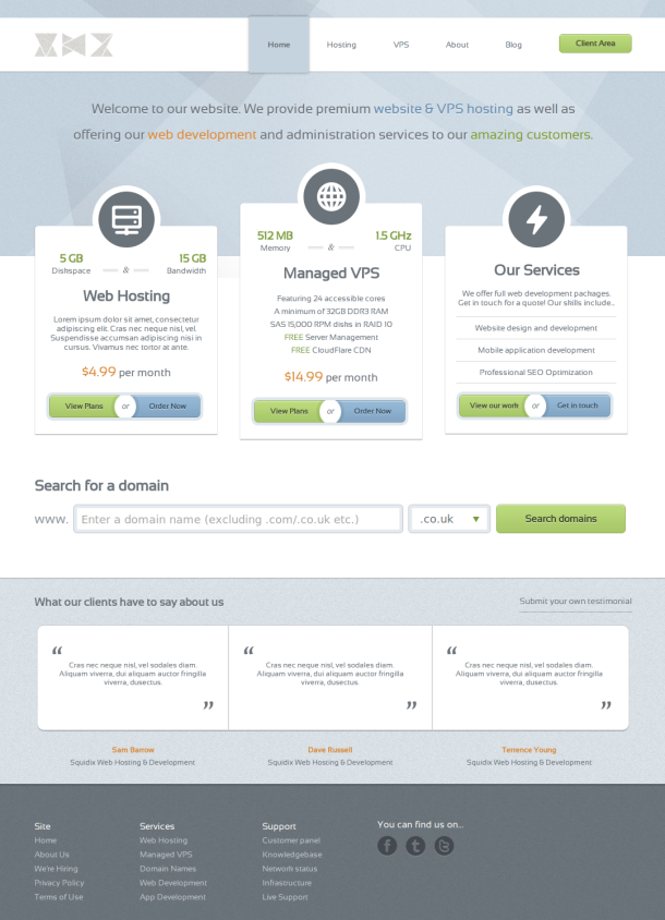 Reseller Hosting Templates Web Hosting Template